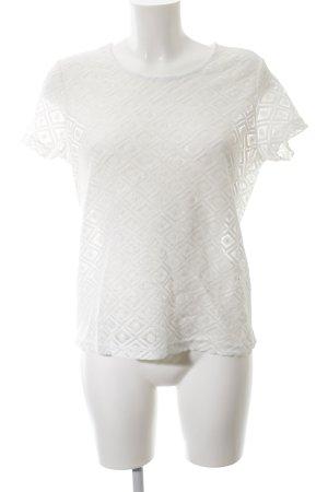 Jacqueline de Yong T-Shirt weiß Allover-Druck Casual-Look