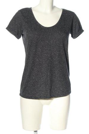 Jacqueline de Yong T-Shirt hellgrau meliert Casual-Look