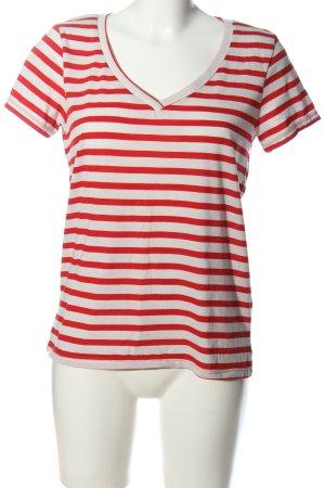 Jacqueline de Yong T-Shirt rot-weiß Allover-Druck Casual-Look
