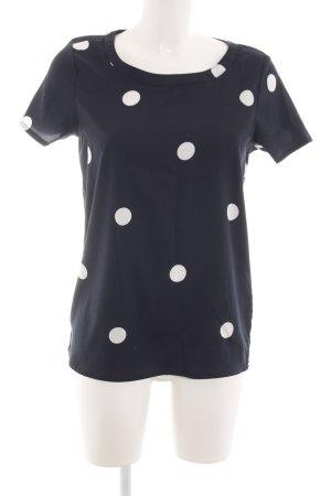 Jacqueline de Yong T-Shirt schwarz-weiß Allover-Druck Casual-Look