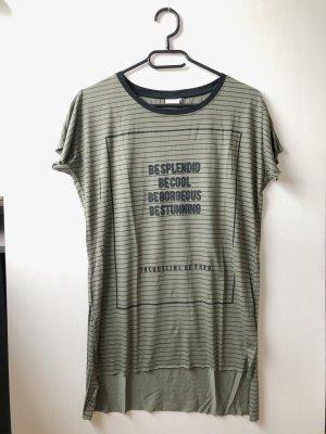 Jacqueline de Yong T-Shirt gestreift khaki/schwarz