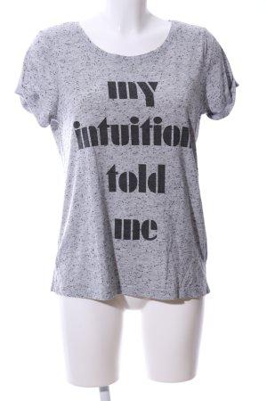 Jacqueline de Yong T-Shirt hellgrau-schwarz meliert Casual-Look