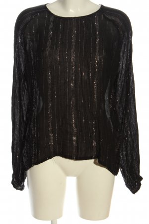 Jacqueline de Yong Transparentna bluzka czarny Wzór w paski W stylu casual