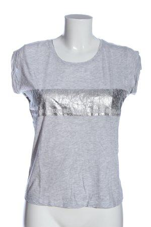 Jacqueline de Yong U-Boot-Shirt hellgrau meliert Casual-Look