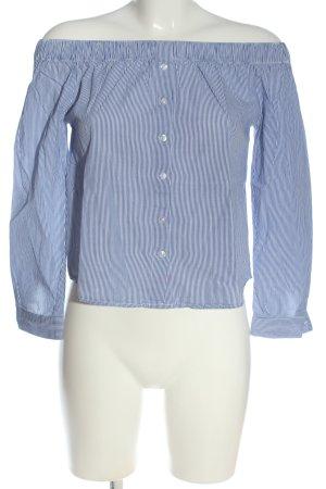 Jacqueline De Young Shirt Blouse blue-white striped pattern casual look