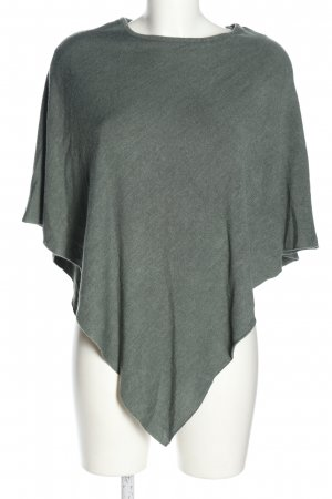 Jacqueline De Young Poncho light grey flecked casual look