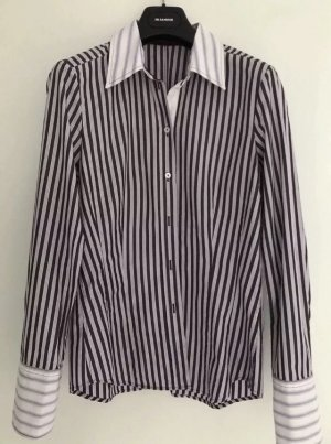 Jacques britt Long Sleeve Blouse white-dark violet