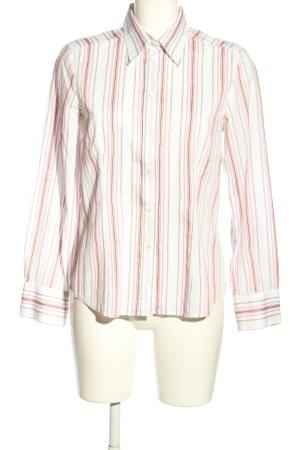 Jacques britt Blouse-chemisier blanc-rose motif rayé style d'affaires