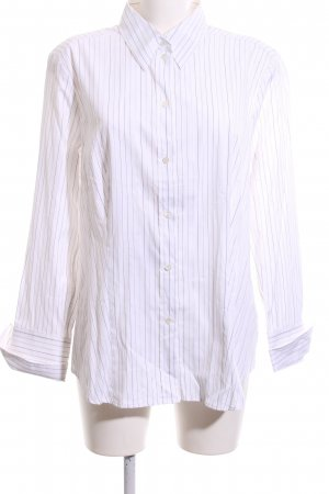Jacques britt Hemd-Bluse weiß Streifenmuster Business-Look