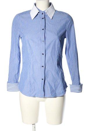 Jacques britt Blouse-chemisier bleu-blanc motif rayé style décontracté