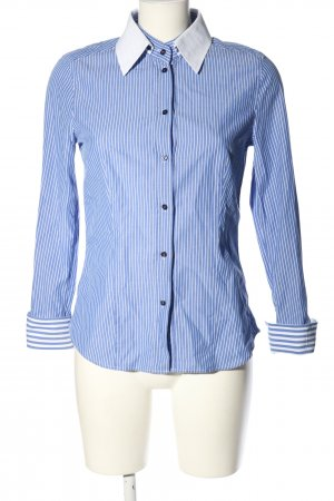 Jacques britt Shirt Blouse blue-white striped pattern casual look