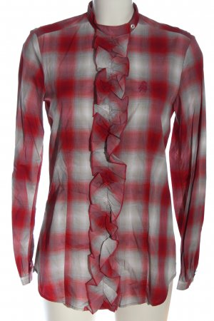 Jacques britt Lumberjack Shirt red-light grey check pattern casual look