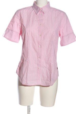 Jacques britt Chemise à manches courtes rose-gris clair motif rayé