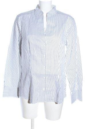 Jacques britt Langarm-Bluse weiß-schwarz Streifenmuster Business-Look