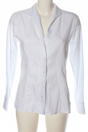 Jacques britt Blusa de manga larga blanco estampado a rayas estilo «business»