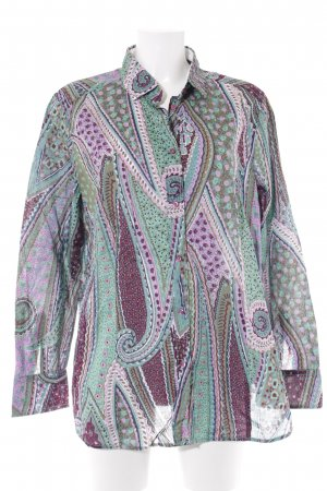 Jacques britt Langarm-Bluse abstraktes Muster extravaganter Stil