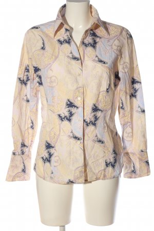 Jacques britt Chemise à manches longues rose chair-bleu imprimé allover