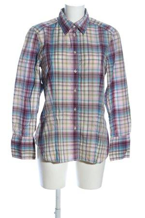 Jacques britt Chemise à manches longues motif à carreaux style décontracté