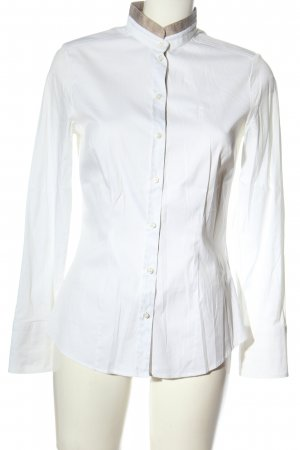 Jacques britt Camisa de manga larga blanco letras bordadas estilo «business»
