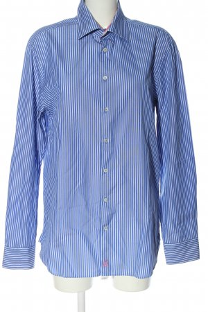 Jacques britt Long Sleeve Shirt blue-white embroidered lettering casual look