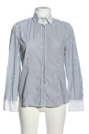 Jacques britt Chemise à manches longues blanc-gris clair motif rayé