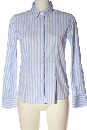 Jacques britt Long Sleeve Shirt blue-white striped pattern casual look