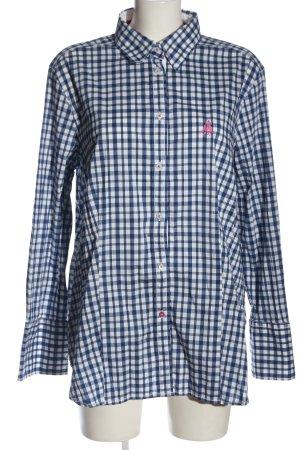 Jacques britt Camicia a maniche lunghe blu-bianco motivo a quadri stile casual