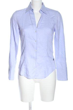 Jacques britt Camisa de manga larga lila-blanco estampado a rayas