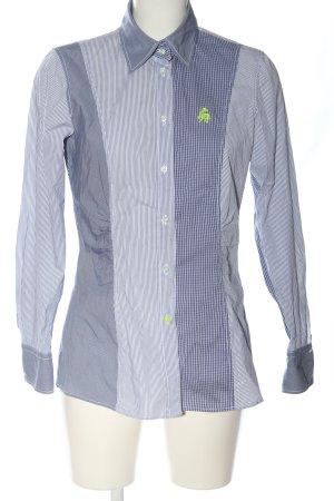 Jacques britt Chemise à manches longues bleu-blanc motif léopard