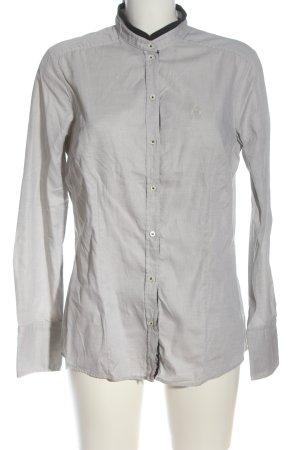 Jacques britt Chemise à manches longues gris clair style décontracté