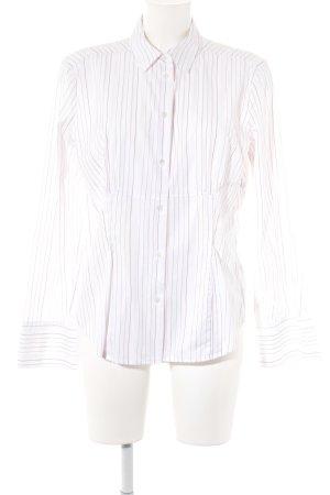 Jacques britt Chemise à manches longues blanc-rouge motif rayé