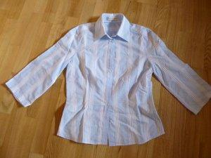 Jacques britt Blusa-camisa azul claro-blanco Algodón