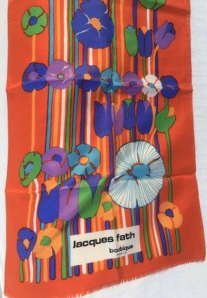 Jacques Fath Paris Sciarpa di seta multicolore Seta