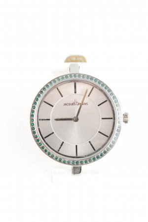 Jacques Lemans Reloj analógico color plata-verde estilo «business»