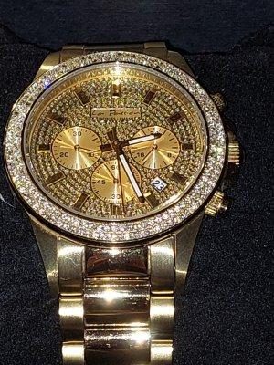 Jaques Lemans Zegarek z metalowym paskiem złoto