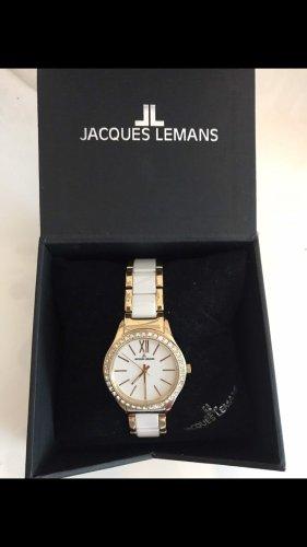 Jacques Lemans Analoog horloge wit-goud