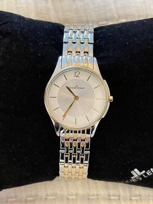 Jacques Lemans Uhr mit Metallband silberfarben-goldfarben Elegant