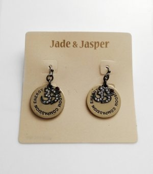 Jade & Jasper Spiritual OM Ohrringe Neu