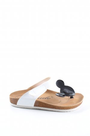 jade Toe-Post sandals white-black casual look