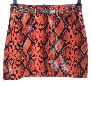 Jaded London Minirock rot-schwarz Animalmuster extravaganter Stil