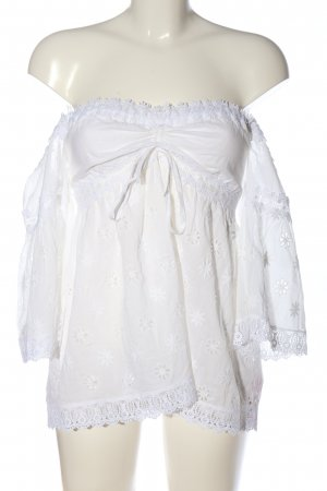 Jadicted Carmen blouse wit casual uitstraling