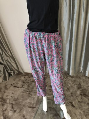 Jadicted Pantalon large rose-bleu azur soie