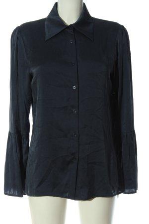 Jadicted Langarm-Bluse blau Business-Look