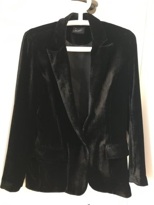 Jadicted Blazer de esmoquin negro Seda