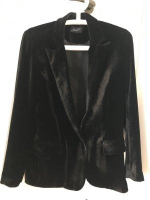 Jadicted Veste de smoking noir soie