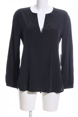 Jadicted Seidenbluse schwarz Business-Look