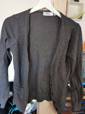 Yessica Chaqueta estilo camisa gris oscuro