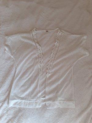 Cardigan à manches courtes blanc