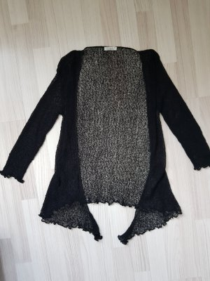 Knitted Wrap Cardigan black
