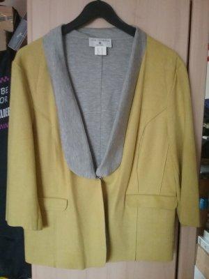 rick cardona Veste chemise gris-jaune citron vert
